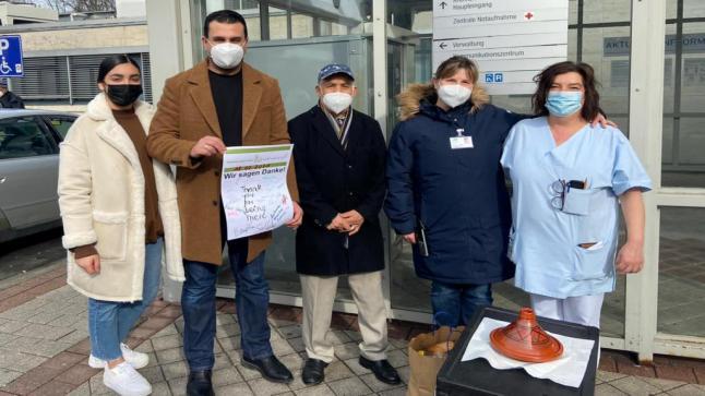 مبادرة ابداعية.. تكريم جمعية السلام بمدينة فرانكفورت للفريق الطبي الخاص بمرضى كورونا